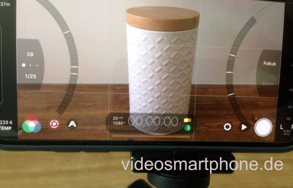 FiLMic Pro App gibt es sowohl für IOS als auch Android, es bietet hilfreiche Einstellungsmöglichkeiten beim Filmen.